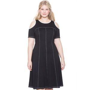 Eloquii Cold Shoulder Dress Sz 22